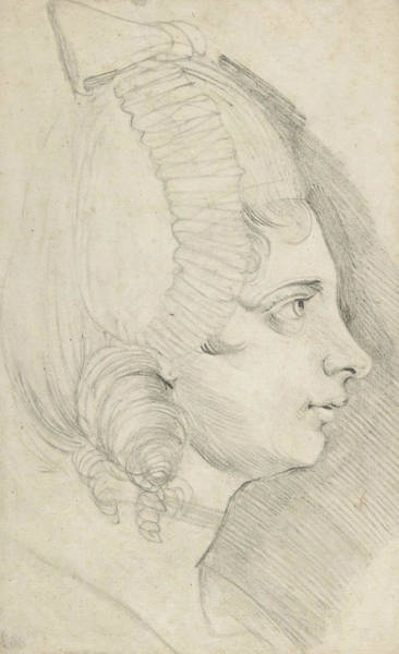 Drawing - Portrait Of A Young Lady Drawn In Left Profile by Henry Fuseli