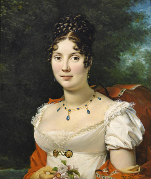 Wall Art - Painting - Portrait Of A Young Lady by Francois Gerard