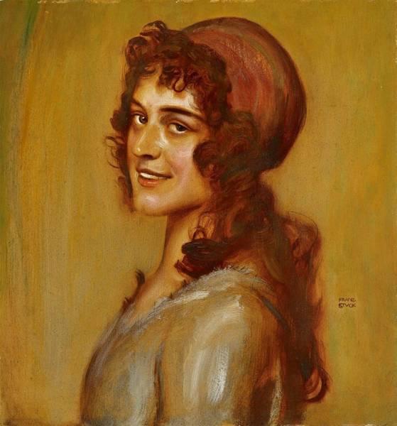Franz Von Stuck Painting -  Portrait Of A Young Lady by Franz Von Stuck