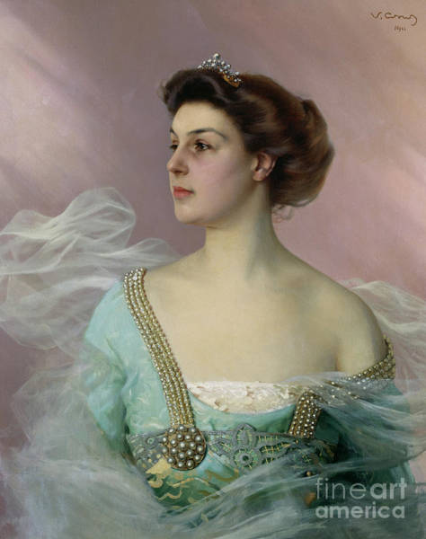 Wall Art - Painting - Portrait Of A Young Lady by Vittorio Matteo Corcos