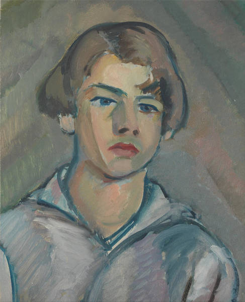 Painting - Portrait Of A Young Man With Long Hair by William Peploe