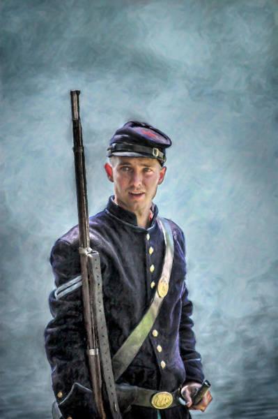 Portrait Of A Young Union Civil War Soldier Art Print