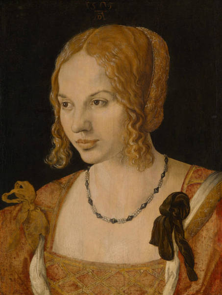 Painting - Portrait Of A Young Venetian Woman by Albrecht Durer
