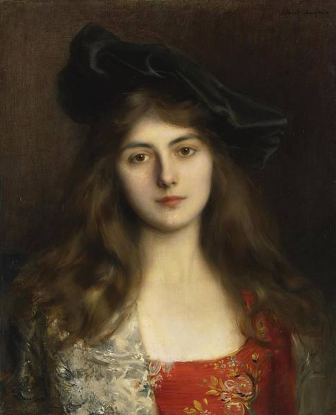 Painting - Portrait Of A Young Woman by Albert Lynch