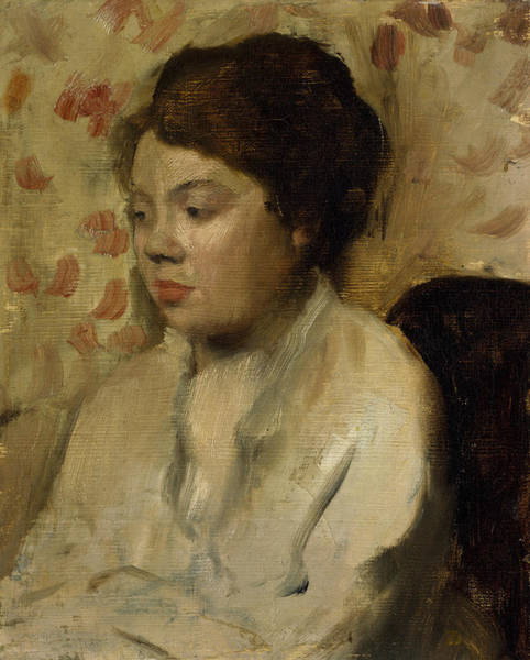 Painting - Portrait Of A Young Woman by Edgar Degas