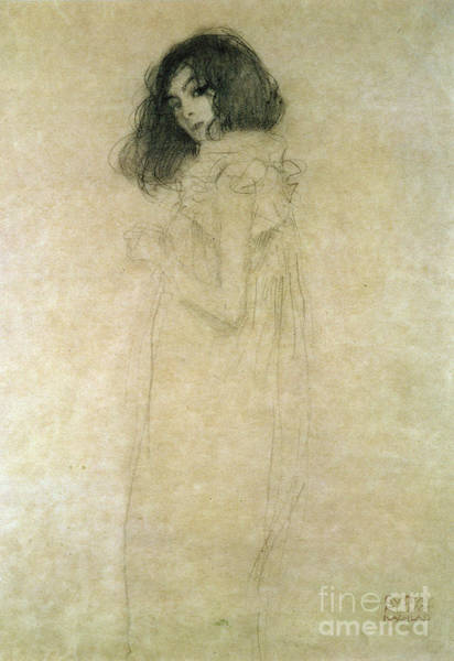 1918 Painting - Portrait Of A Young Woman by Gustav Klimt