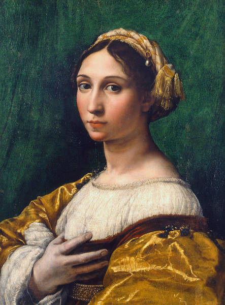 Painting - Portrait Of A Young Woman by Raphael