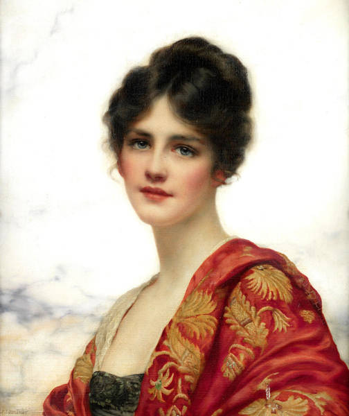 Wall Art - Painting - Portrait Of A Young Woman by William Clarke Wotner