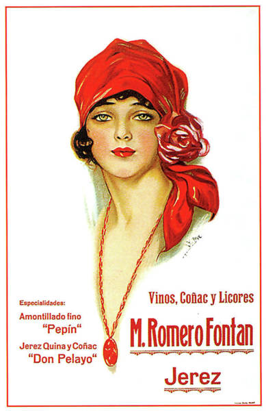 Wall Art - Painting - Portrait Of A Young Woman With Red Bandana, Vintage Advertising Poster by Long Shot