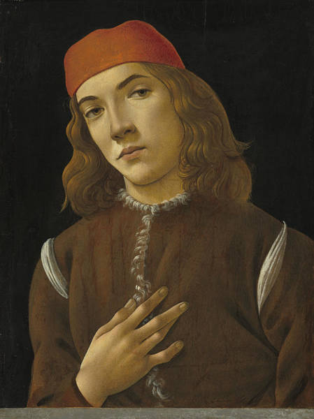 Painting - Portrait Of A Youth by Sandro Botticelli