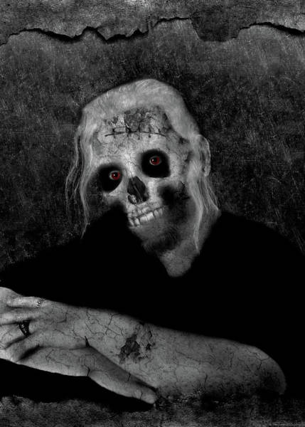 Photograph - Portrait Of A Zombie by Amber Flowers