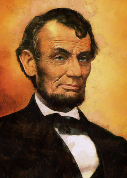 Digital Art - Portrait Of Abraham Lincoln by Charmaine Zoe