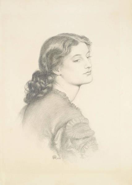 Drawing - Portrait Of Ada Vernon by Dante Gabriel Rossetti