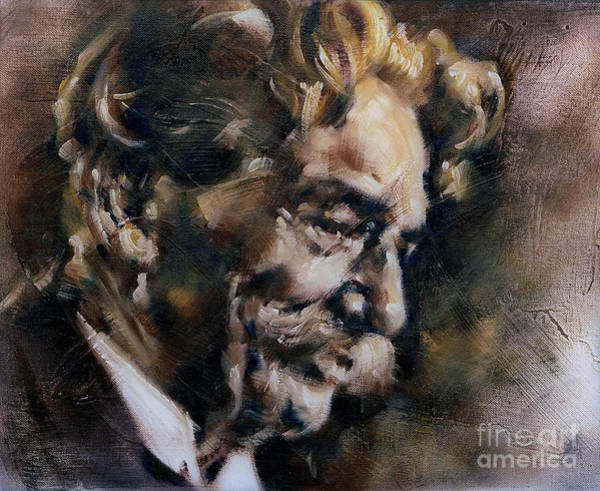 Painting - Portrait Of Albert Schweitzer by Ritchard Rodriguez