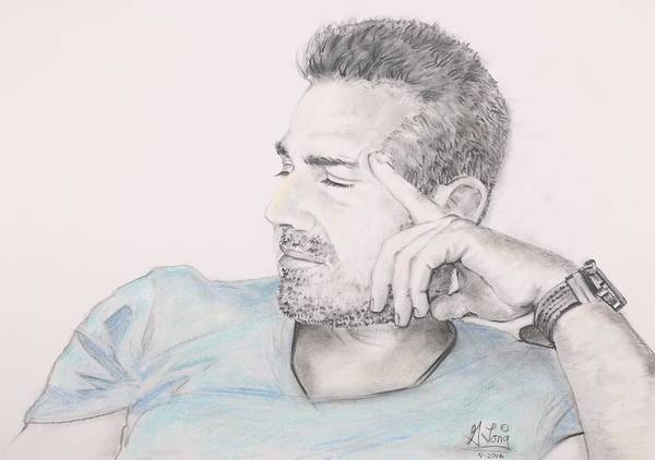 Drawing - Portrait Of Alex by Gary M Long
