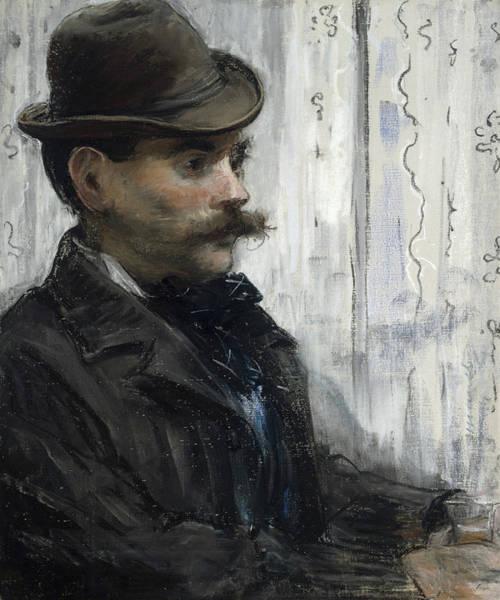 Wall Art - Painting - Portrait Of Alphonse Maureau by Edouard Manet