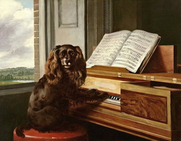 Mutt Painting - Portrait Of An Extraordinary Musical Dog   by Philip Reinagle