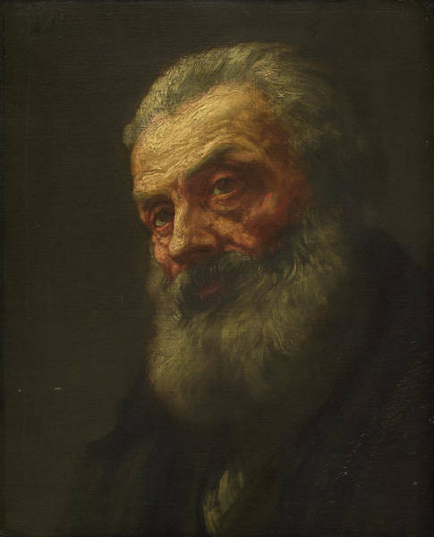 Painting - Portrait Of An Old Man by Alphonse Legros