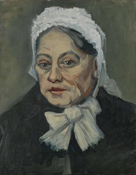 Painting - Portrait Of An Old Woman Antwerp December 1885 Vincent Van Gogh 1853  1890 by Artistic Panda