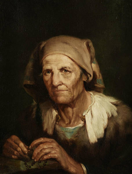 Painting - Portrait Of An Old Woman by Giuseppe Nogari