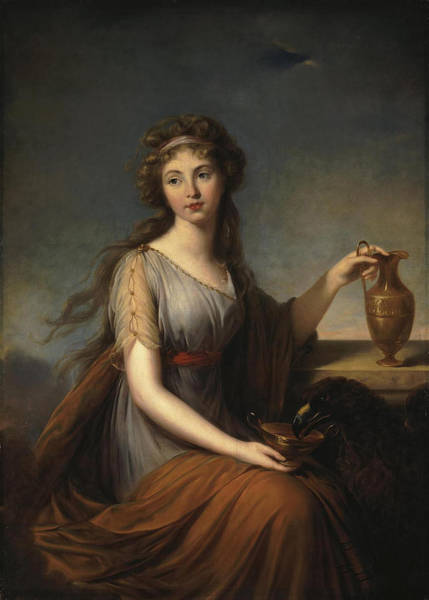 Louise Wall Art - Painting - Portrait Of Anna Pitt As Hebe by Elisabeth Louise Vigee-Lebrun
