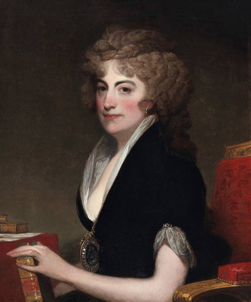 Painting - Portrait Of Anne Willing Bingham by Gilbert Stuart