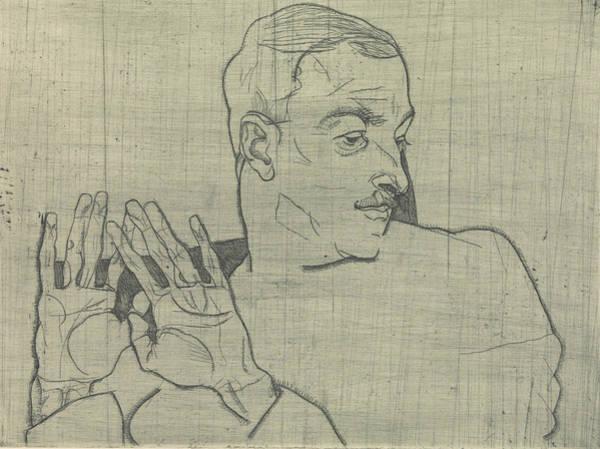 Relief - Portrait Of Arthur Roessler by Egon Schiele