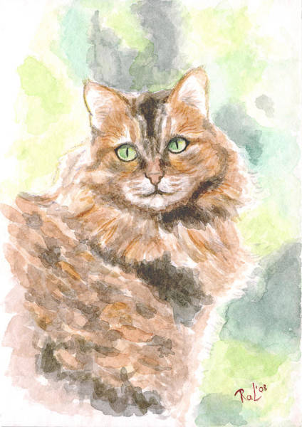 Painting - Portrait Of Cat. by Raffaella Lunelli