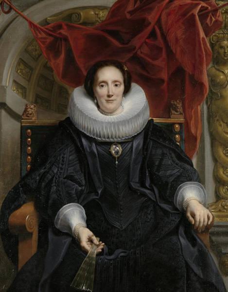 Merchant Painting - Portrait Of Catharina Behaghel by Jacob Jordaens