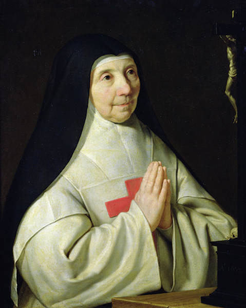 Believers Painting - Portrait Of Catherine-agnes Arnauld by Philippe de Champaigne