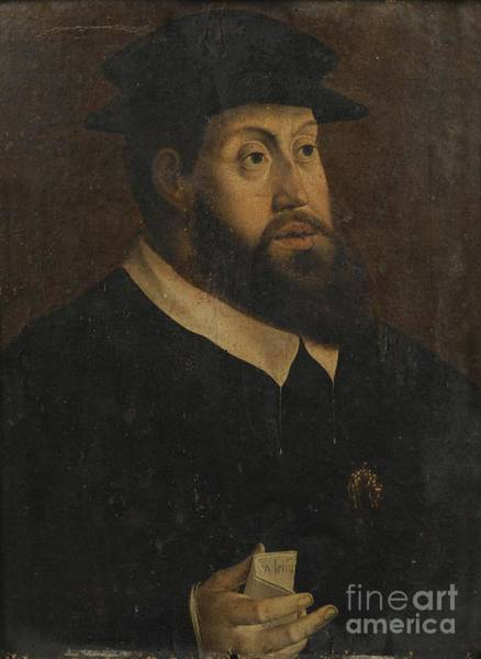 Circa Painting - Portrait Of Charles V by Celestial Images