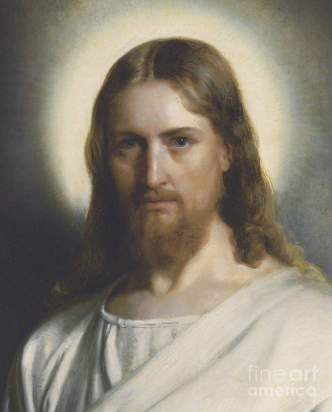 1834 Wall Art - Painting - Portrait Of Christ by Carl Heinrich Bloch