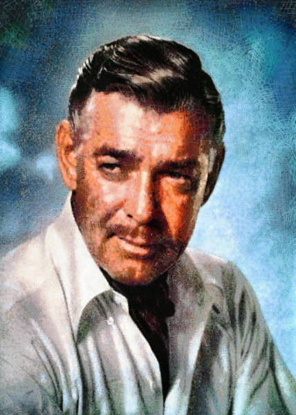 Digital Art - Portrait Of Clark Gable by Charmaine Zoe