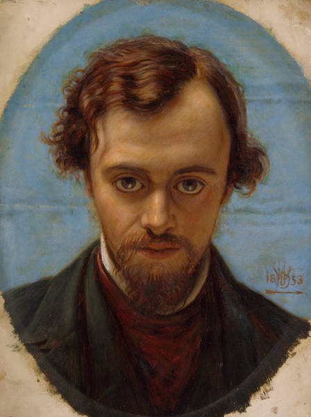 Painting - Portrait Of Dante Gabriel Rossetti At 22 Years Of Age by William Holman Hunt