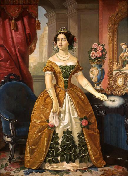 Painting - Portrait Of Dona Dolores Tosta De Santa Anna by Juan Cordero