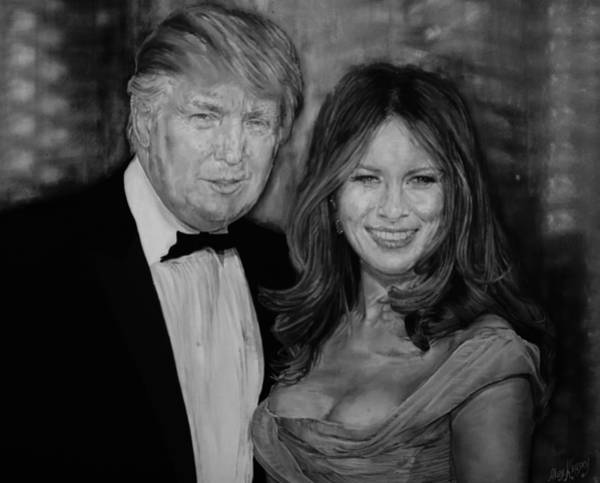 Potential Painting - Portrait Of Donald And Melania Trump by Alex Krasky