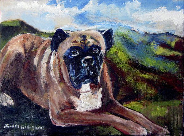 Wall Art - Painting - Portrait Of Duke by James Gallagher