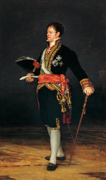 Nobility Painting - Portrait Of Duque De San Carlos by Francisco Goya
