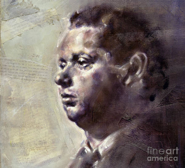 Painting - Portrait Of Dylan Thomas by Ritchard Rodriguez