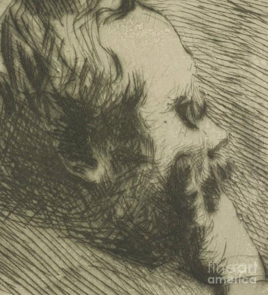 French Artist Drawing - Portrait Of Edgar Degas by Giuseppe Nittis