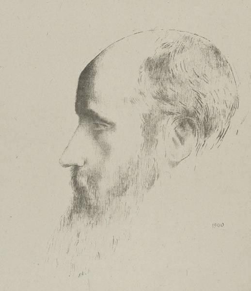 Relief - Portrait Of Edouard Vuillard by Odilon Redon