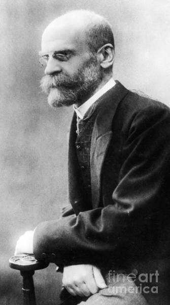 Wall Art - Photograph - Portrait Of Emile Durkheim by French School