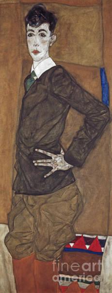 Wall Art - Painting - Portrait Of Erich Lederer by Egon Schiele