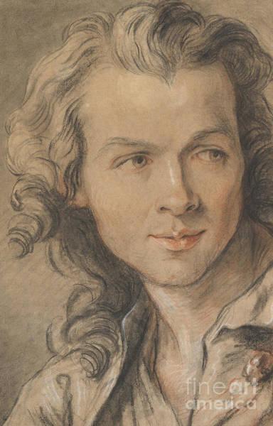 Wall Art - Drawing - Portrait Of Etienne Maurice Falconet  by Jean-Baptiste II Lemoyne