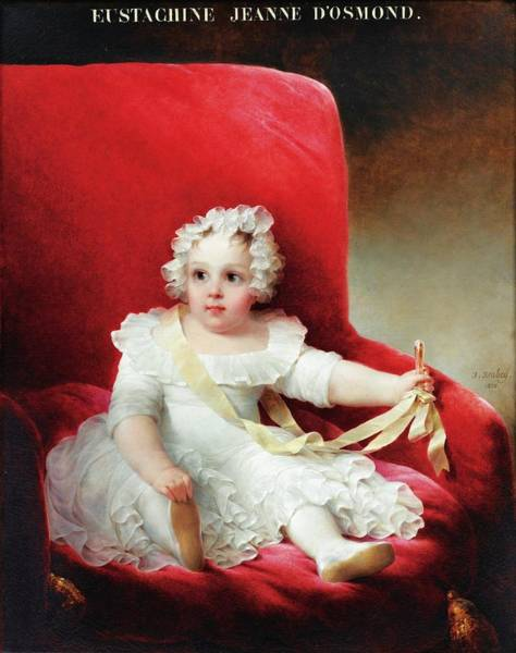 Gabriel Painting - Portrait Of Eustachine by Louis Gabriel