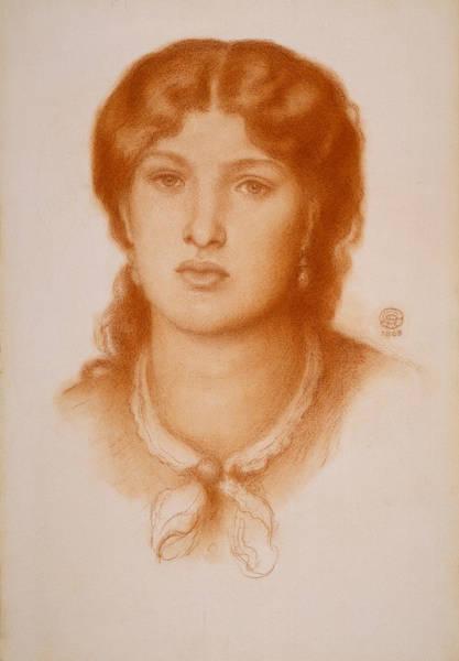 Drawing - Portrait Of Fanny Cornforth by Dante Gabriel Rossetti