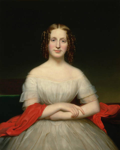 Painting - Portrait Of Fidelia Marshall by Charles Cromwell Ingham