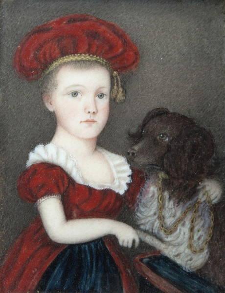Mutt Painting - Portrait Of Frances Elizabeth Waldo by Charles William Eldredge
