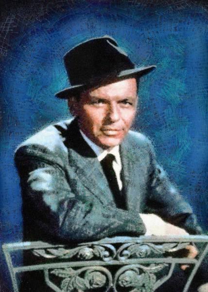 Digital Art - Portrait Of Frank Sinatra by Charmaine Zoe