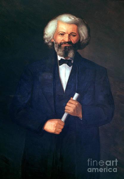 Haiti Painting - Portrait Of Frederick Douglass by American School